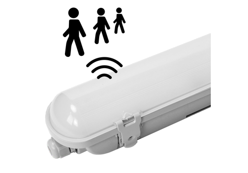 HOFTRONIC™ IP65 LED Wannenleuchte 150 cm Sensor 50W 6000lm 6000K Osram Netzteil