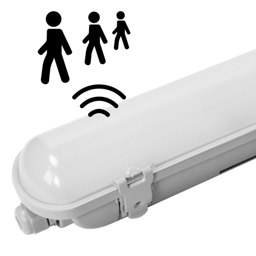 HOFTRONIC™ IP65 LED Wannenleuchte 150 cm Sensor 50W 6000lm 4000K Osram Netzteil