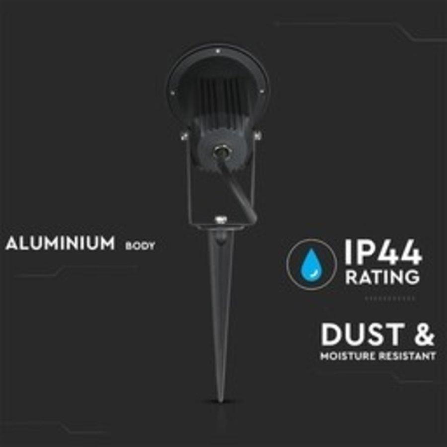 Set van 9 aluminium prikspots dimbaar 5 Watt GU10 2700K IP44