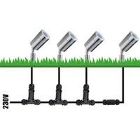 Set van 9 RVS prikspots dimbaar 5 Watt GU10 2700K IP44