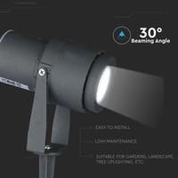 Set van 3 LED aluminium prikspots 12 Watt 4000K IP65 zwart