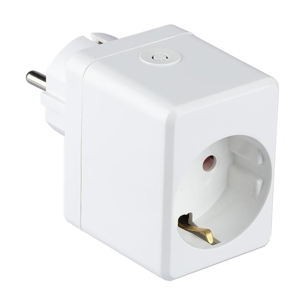 Slimme stekker met USB poort Wit