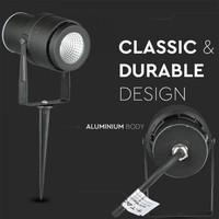 Set van 3 LED aluminium prikspots 12 Watt  3000K IP65 Zwart