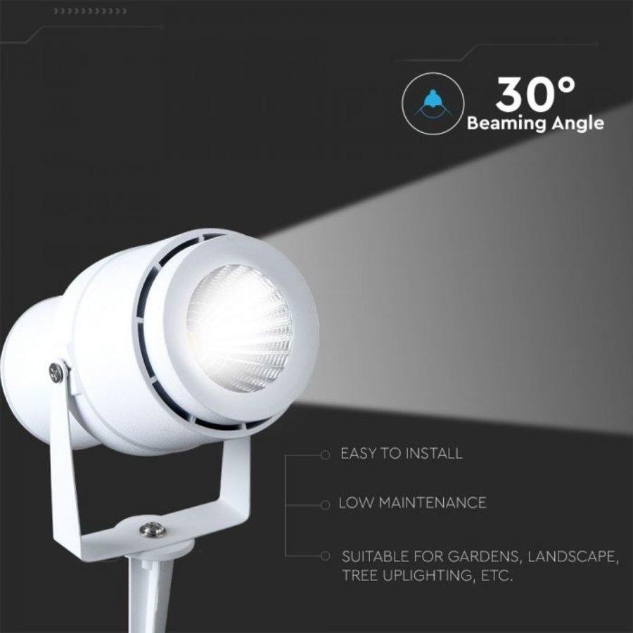 Set van 3 LED aluminium prikspots 12 Watt  3000K IP65 wit