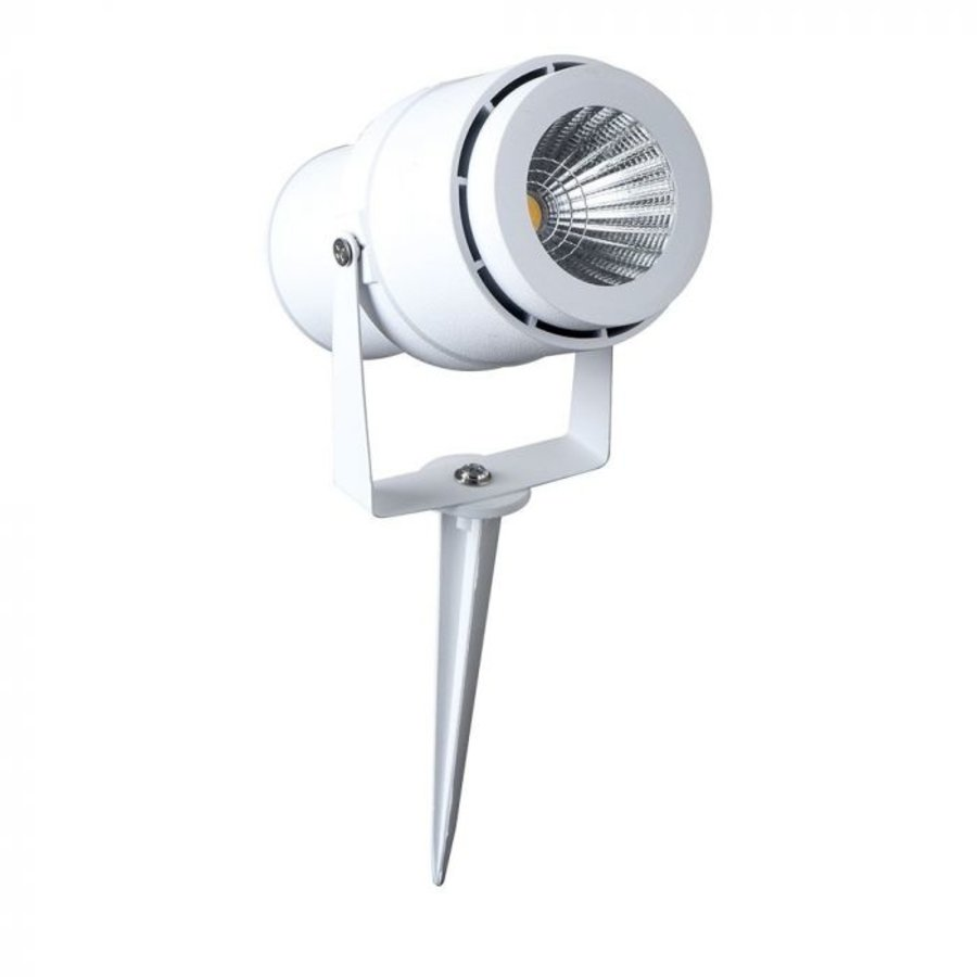 Set van 9 LED aluminium prikspots 12 Watt  3000K IP65 wit