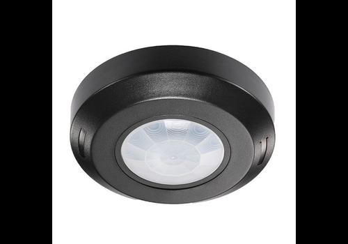 PIR Bewegungsmelder 360° Reichweite 8m Maximal 200 Watt IP20 Aufputz Farbe Schwarz