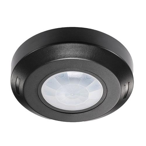 PIR bewegingssensor 360° bereik 8 meter Maximaal 200 Watt IP20 opbouw kleur zwart