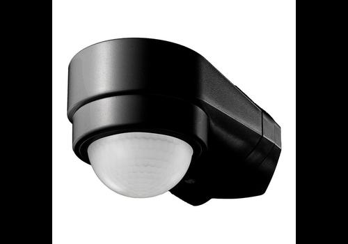 PIR bewegingssensor 240° bereik 10 meter Maximaal 600 Watt IP65 Zwart
