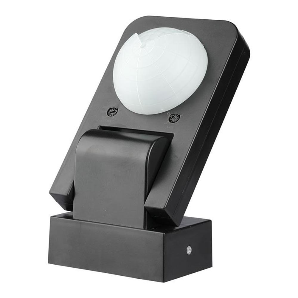 PIR bewegingssensor met schemerschakelaar 360° bereik 20 meter Maximaal 1000 Watt opbouw kleur zwart