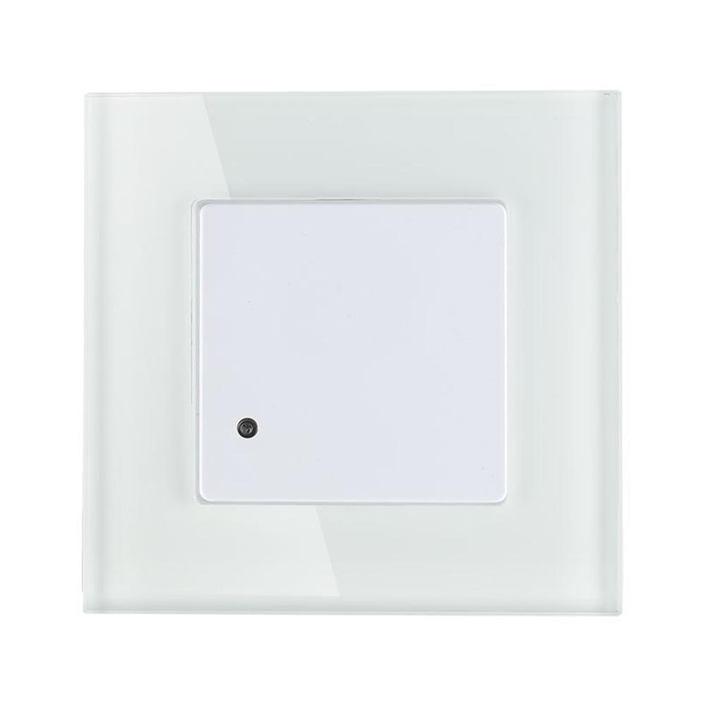 Microgolf Bewegingssensor met schemerschakelaar 15 meter Maximaal 300 Watt inbouw wit