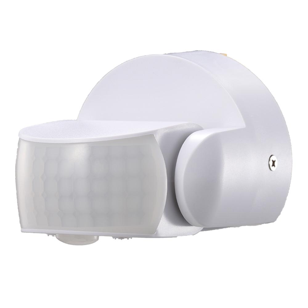 PIR bewegingssensor met schemerschakelaar 180° bereik 12 meter Maximaal 600 Watt opbouw wit IP65