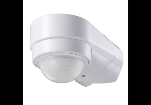 PIR Bewegungsmelder 240° Bereich 10 Meter bis 600 Watt IP65 Weiß