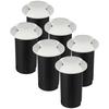Set van 6 grondspots rond wit 3000K 1 Watt IP67 12V - 2 Lichts