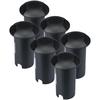 Set van 6 grondspots rond zwart 3000K 1 Watt IP67 12V - 2 Lichts