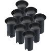V-TAC Set van 9 grondspots rond zwart 3000K 1 Watt IP67 12V - 2 Lichts