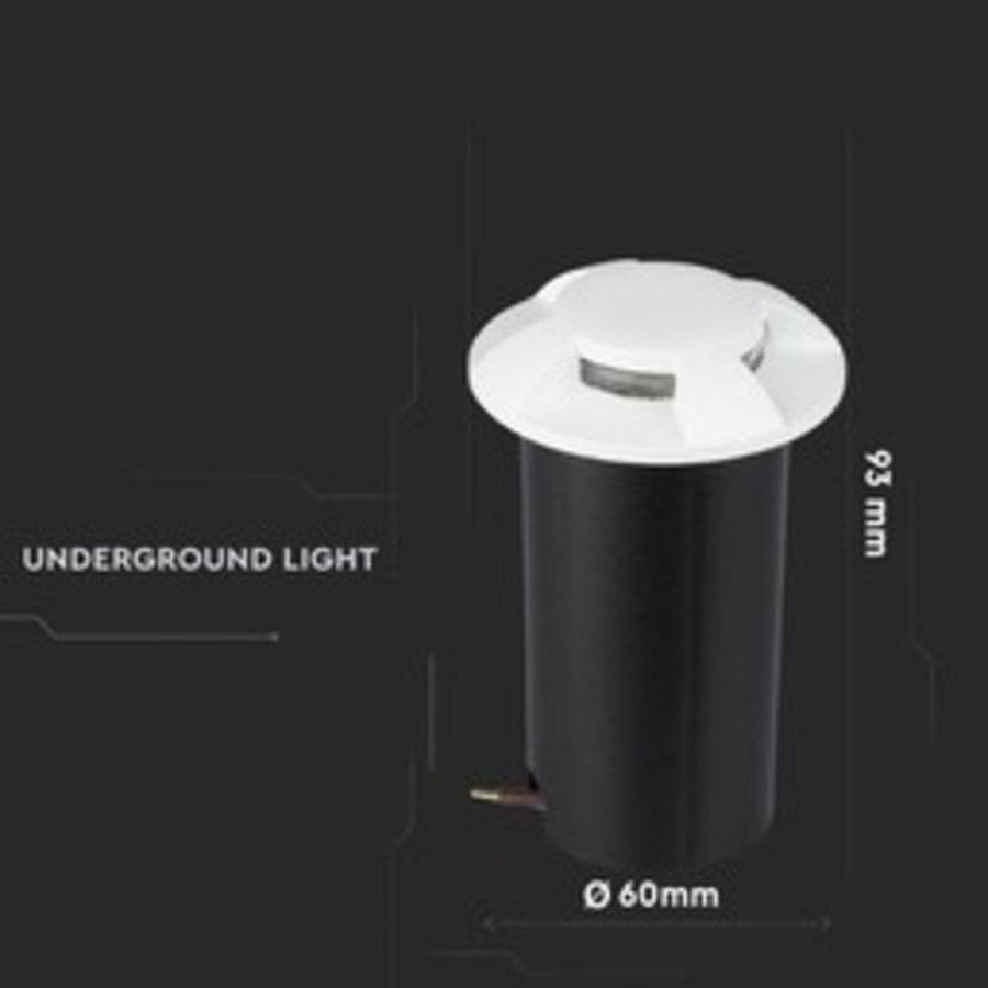 Set of 9 ground spots stainless steel round white 3000K 1 Watt IP67 12V - 4 Lights