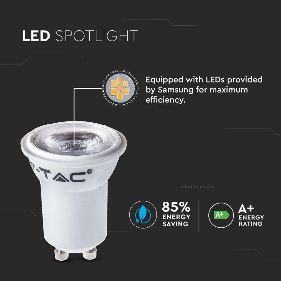 GU10 LED lamp 2 Watt 6400K Samsung Chip (vervangt 15W)
