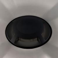 Set van 3 grondspots rond zwart 3000K 1 Watt IP67 12V - 4 Lichts