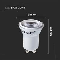 GU10 LED lamp 2 Watt 4000K Samsung Chip (vervangt 15W)