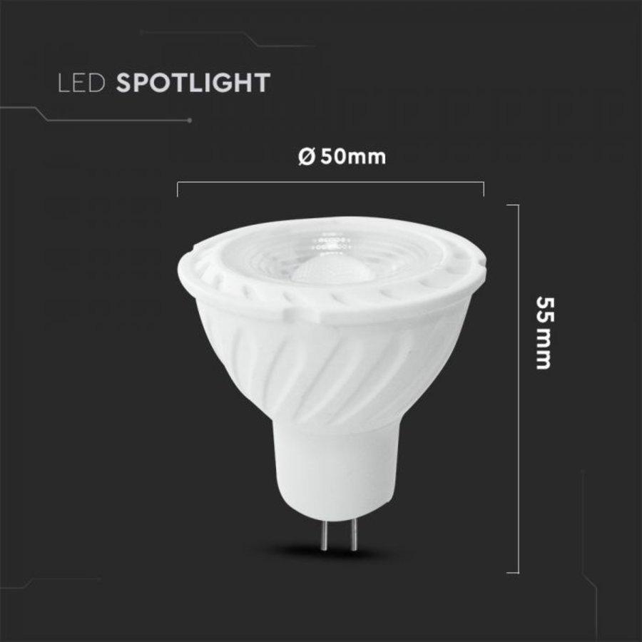 MR16 LED spot 6.5 Watt 12V DC 450lm warm white 3000K (replaces 55W) 5 year warranty