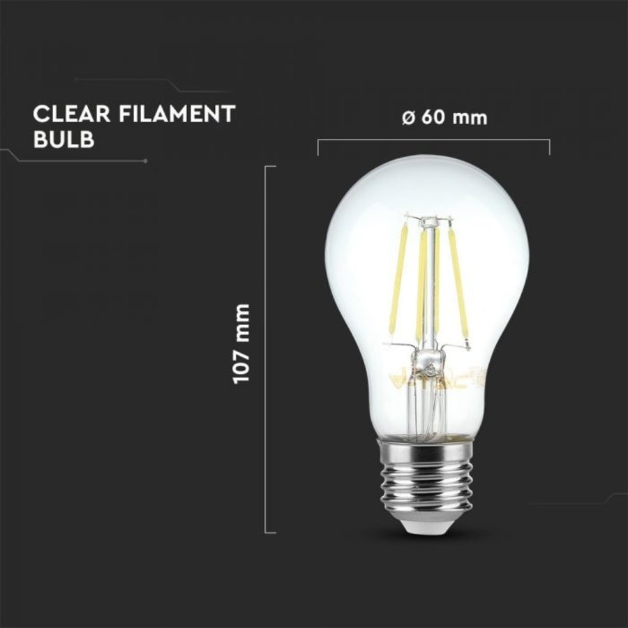 E27 LED Filament Lamp 6 Watt 2700K A60 Samsung Vervangt 60 Watt