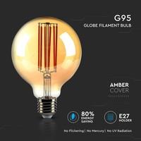 LED gloeilamp G95 met E27 fitting 7 Watt 700lm super warm wit 2200K