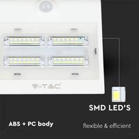 LED Solar Wandlamp Wit 3 Watt 4000K Neutraal wit met bewegingssensor