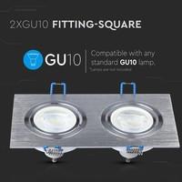 Houston GU10 armatuur aluminium geborsteld