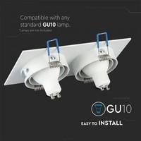 Hamm GU10 armatuur wit IP20