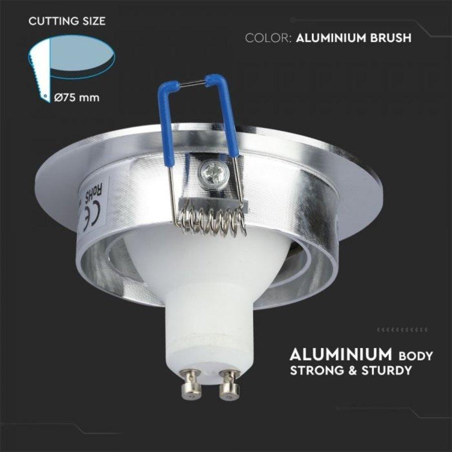 Chandler GU10 Armatuur IP20 Kantelbaar geborsteld aluminium