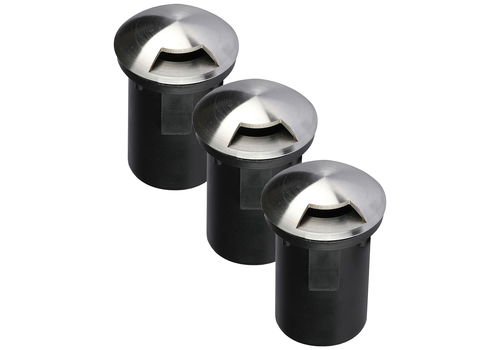 V-TAC Set of 3 ground spots round Stainless Steel IP67 MR16 3000K - 1 Light