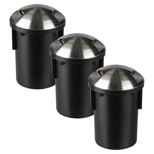 V-TAC Set of 3 ground spots Round Stainless Steel IP67 MR16 3000K - 2 Lights