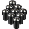 Set of 9 ground spots Round Stainless Steel IP67 MR16 3000K- 2 Lights