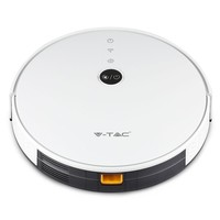 Smart Robot vacuum cleaner self charging with charging station white