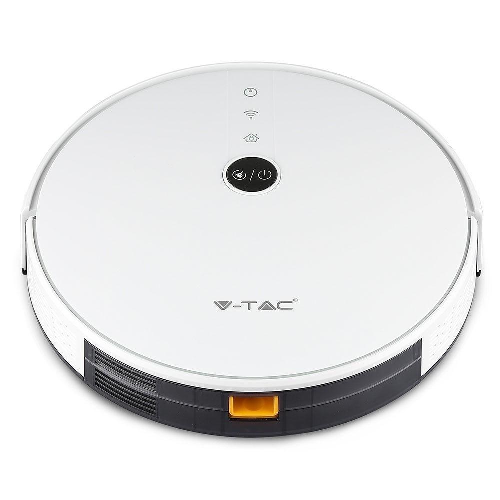 Smart robotstofzuiger self charging met laadstation wit