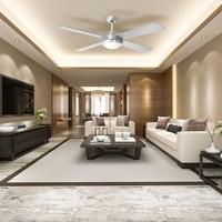 Ceiling fan steel with remote control 35 Watt LED