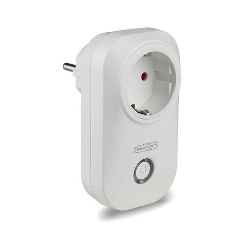 V-TAC Slimme stekker met tijdschakelaar met Amazon Alexa & Google home wit