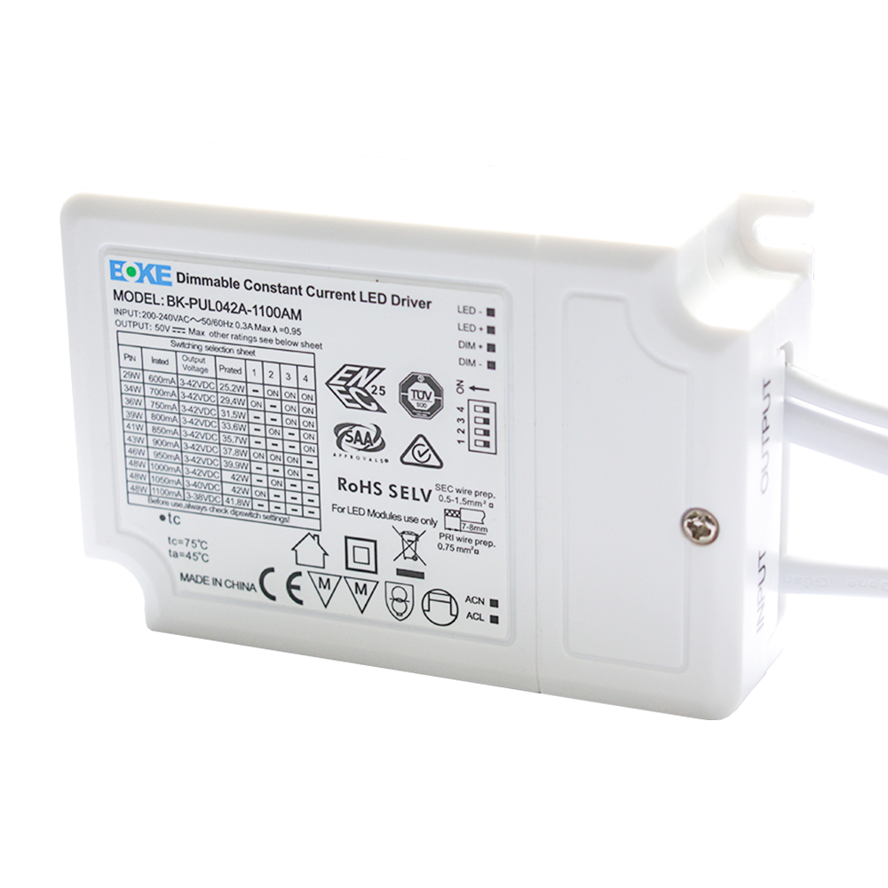 1-10V Dimbare LED Paneel transformator 36W Boke DC connector (125lm/W)
