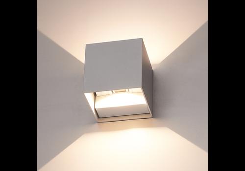 HOFTRONIC™ Dimmable LED Wall light Kansas Grey 6 Watt 3000K double-sided illumination IP54