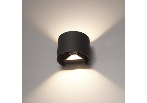 HOFTRONIC™ Dimbare LED Wandlamp Denver zwart 6 Watt 3000K tweezijdig oplichtend IP54