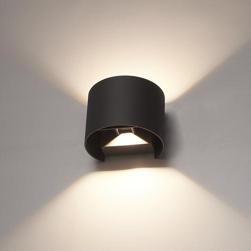 HOFTRONIC™ Dimmable LED Wall light Denver black 6 Watt 3000K double-sided illumination IP54