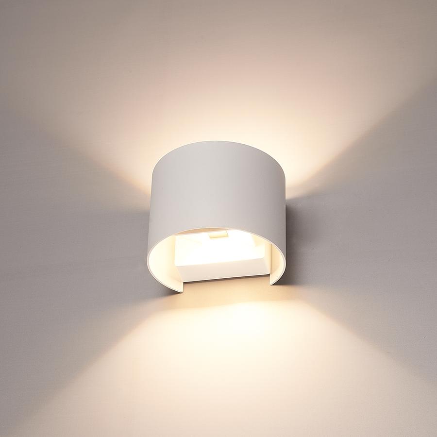Dimbare LED Wandlamp Denver wit 6 Watt 3000K tweezijdig oplichtend IP54