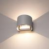 HOFTRONIC™ Dimbare LED Wandlamp Denver grijs 6 Watt 3000K tweezijdig oplichtend IP54