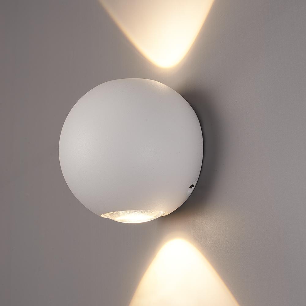 LED Wandlamp Houston wit 2 Watt 3000K Up & Down light IP54 spuitwaterbestendig 3 Jaar garantie
