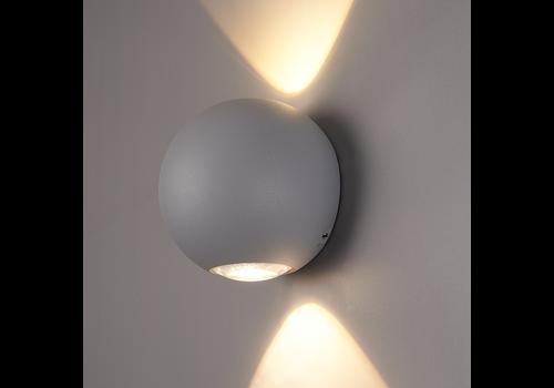 HOFTRONIC™ LED Wandlamp Houston grijs 2 Watt 3000K tweezijdig oplichtend IP54