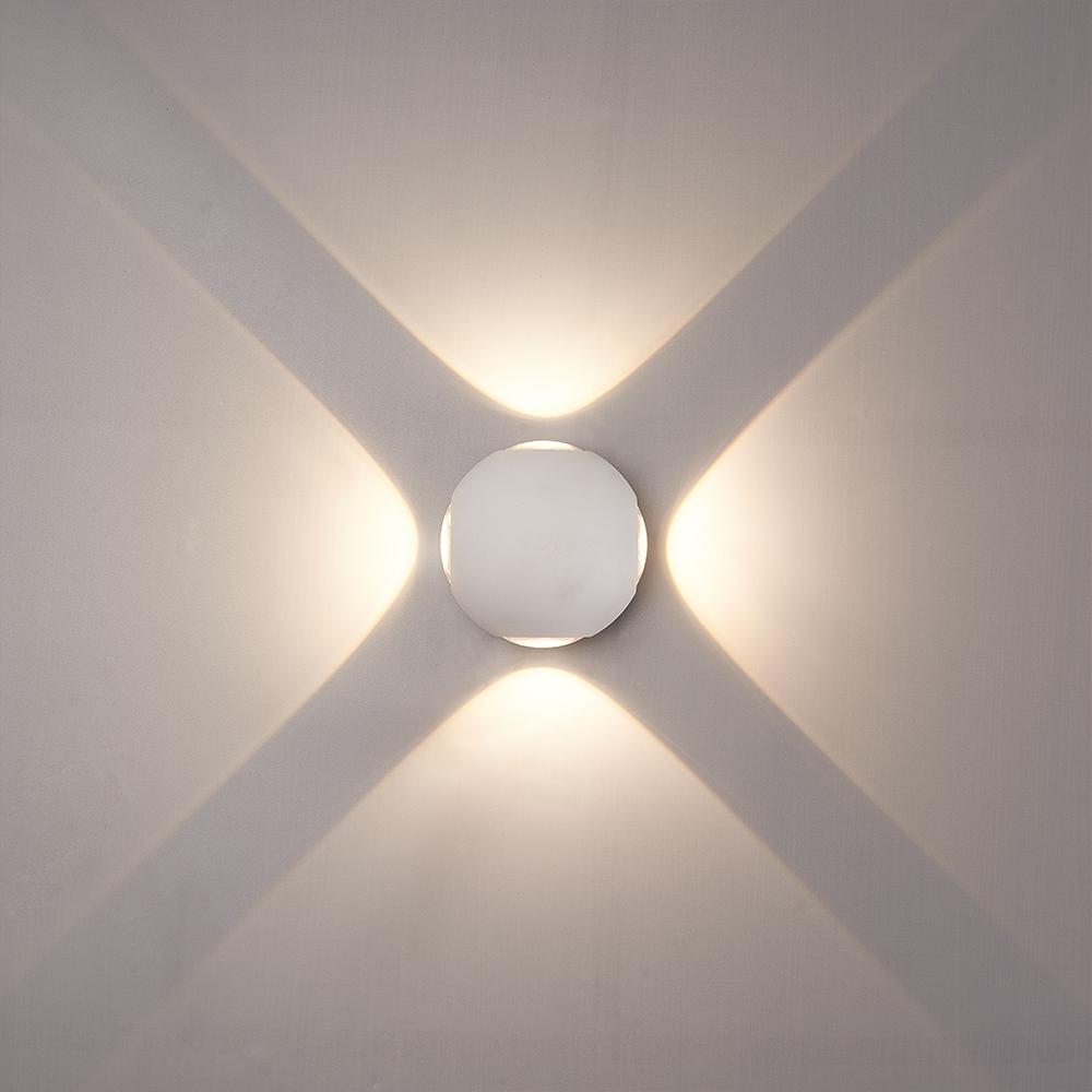 LED Wandlamp Austin wit 4 Watt 3000K 4 Lichts IP54 spatwaterbestendig 3 jaar garantie