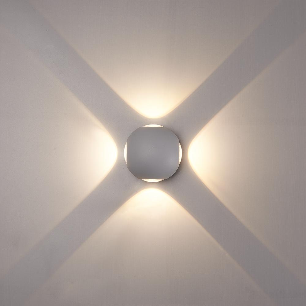 LED Wandlamp Austin grijs 4 Watt 3000K 4 Lichts IP54 spatwaterbestendig 3 jaar garantie