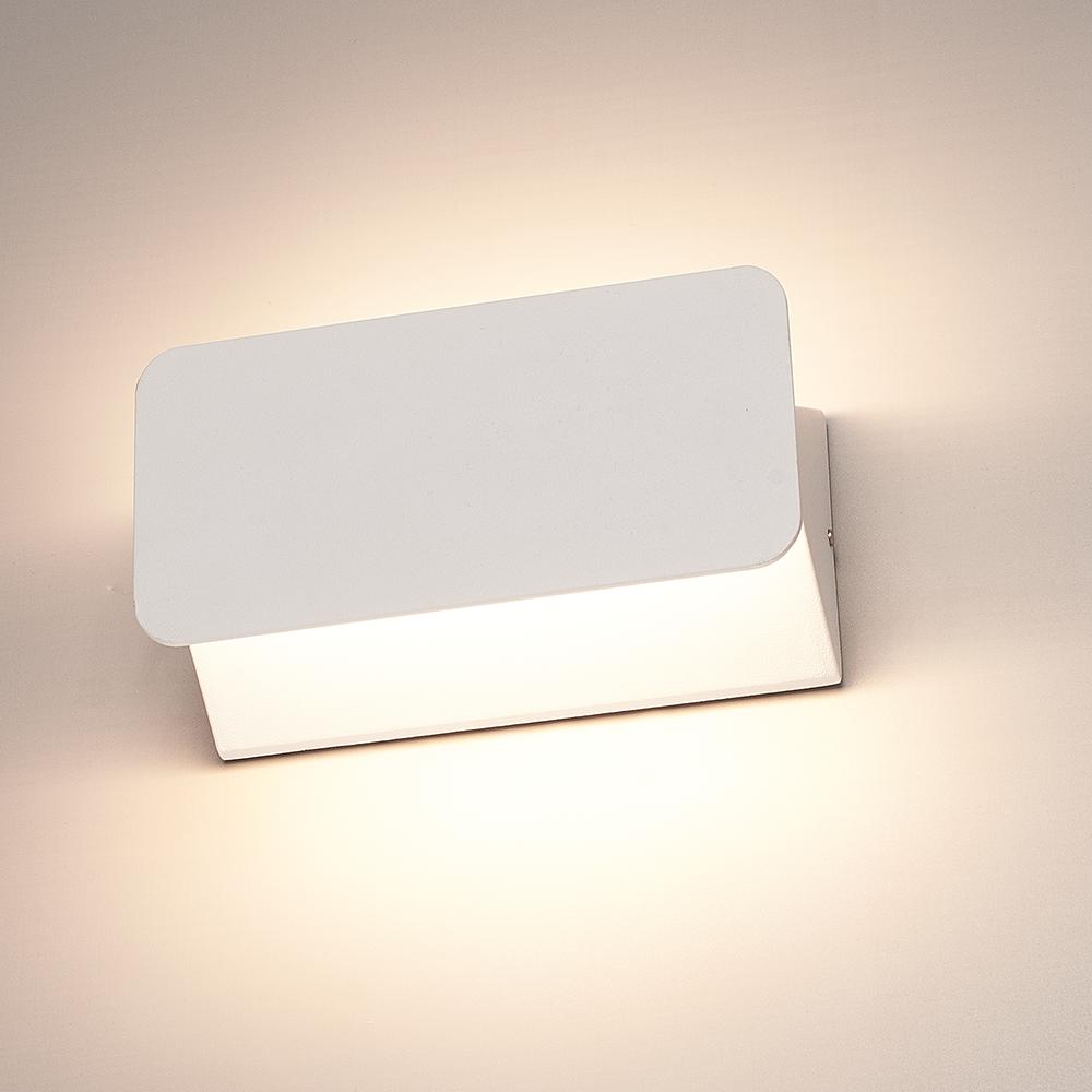 LED Wandlamp Toledo wit 6 Watt 3000K tweezijdig oplichtend IP54 spatwaterdicht 3 jaar garantie