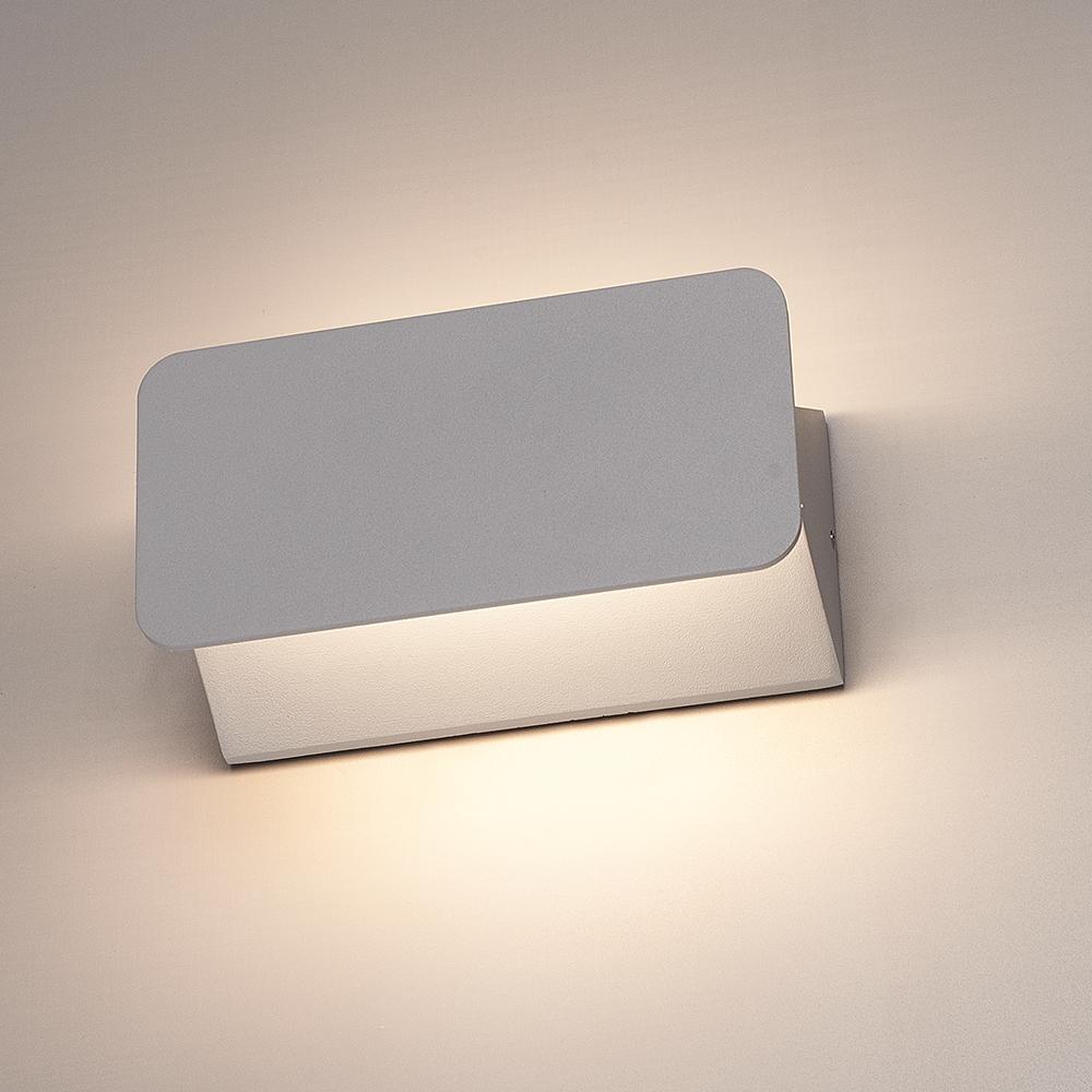LED Wandlamp Toledo grijs 6 Watt 3000K Up & Down light IP54 spatwaterdicht 3 jaar garantie
