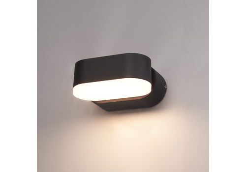 HOFTRONIC™ Dimbare LED Wandlamp Dayton zwart 6 Watt 3000K kantelbaar IP54